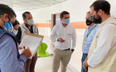 Inspección a puntos de vacunación Covid-19 en el Area