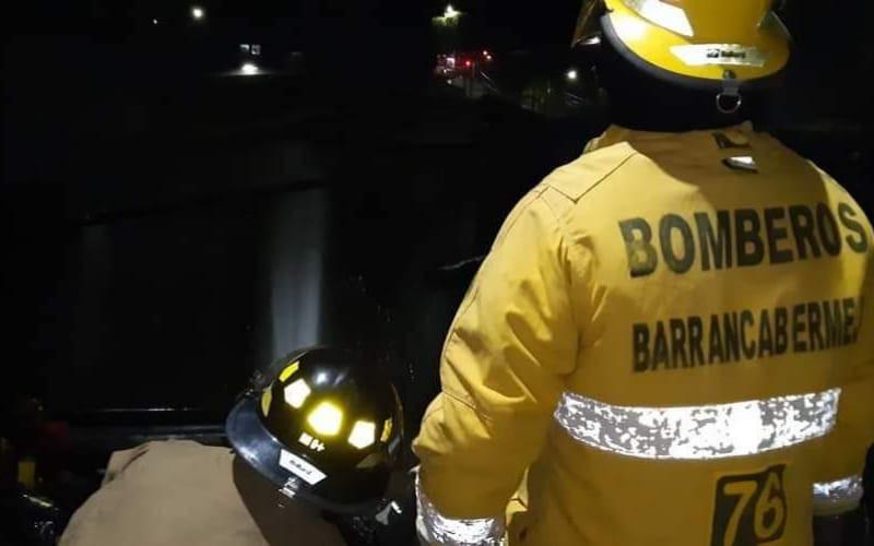 Hubo fuego en Miraflores, en Barrancabermeja
