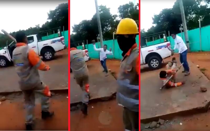 Escándalo por pelea entre ingeniero y obrero en Berrío