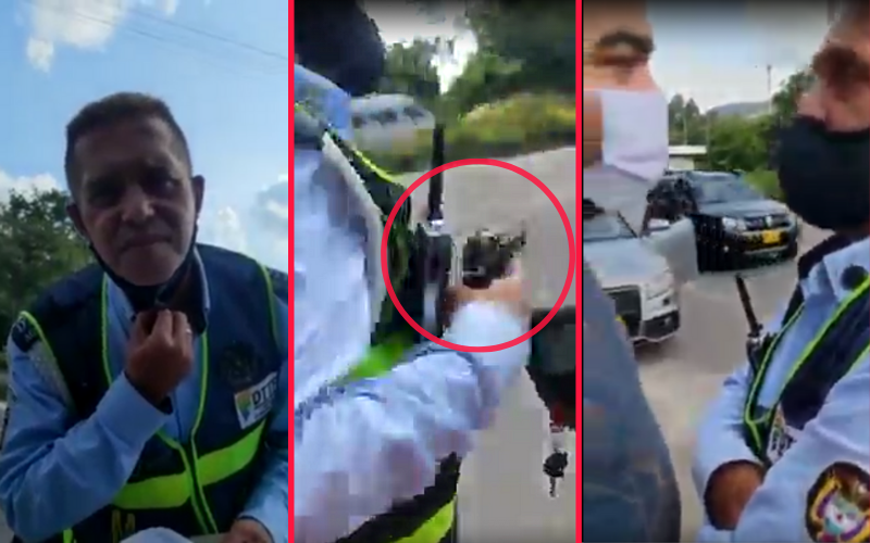 Alférez se armó en confrontación con infractores