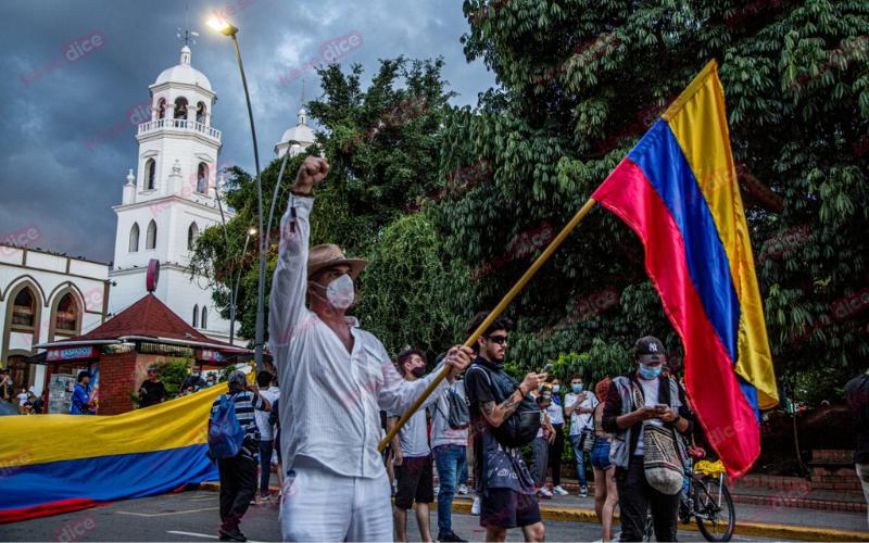 En imágenes: Así transcurrió la manifestación en Floridablanca
