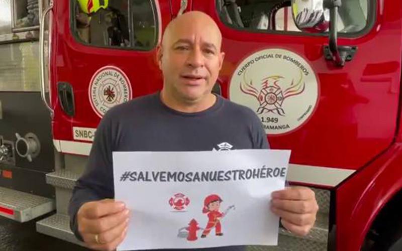 Buscan Ecmo para bombero en Bucaramanga