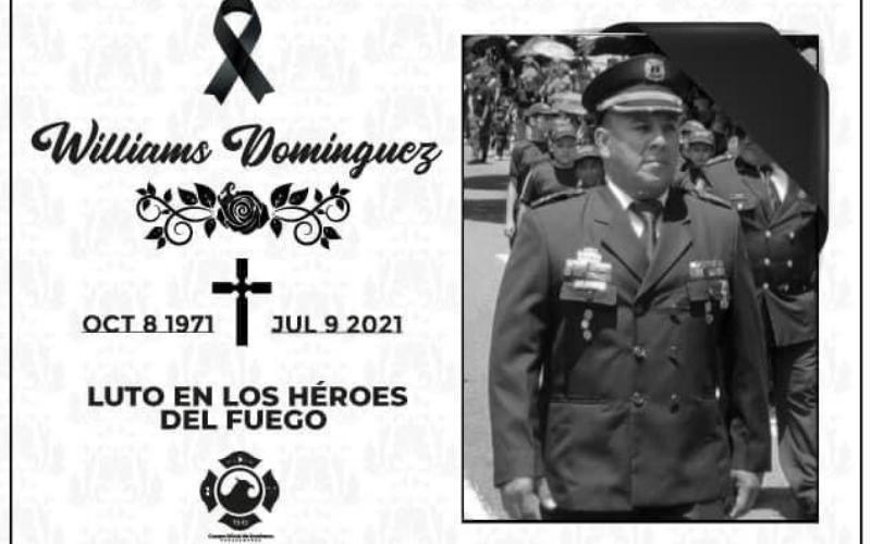 Lamentable fallecimiento del bombero Domínguez