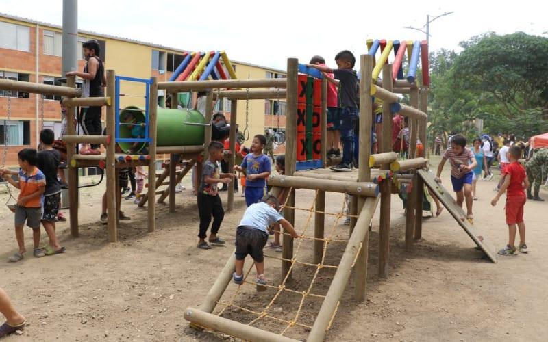 Ingenieros Militares instalaron parque en La Inmaculada