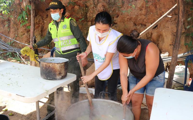 En Río de Oro hubo 'olla comunitaria'