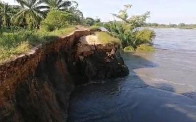 Calamidad pública en Puerto Wilches por erosión de dique