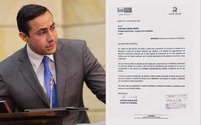 Luego de su captura, Aguilar renunció al Senado