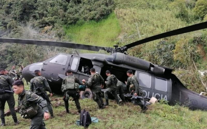Helicóptero de la Policía se accidentó en Antioquia