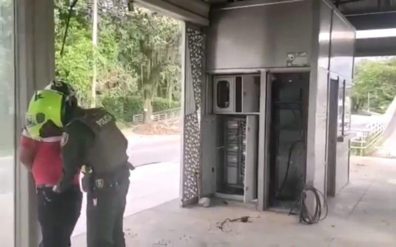 Lo pillaron robando cable en La Españolita