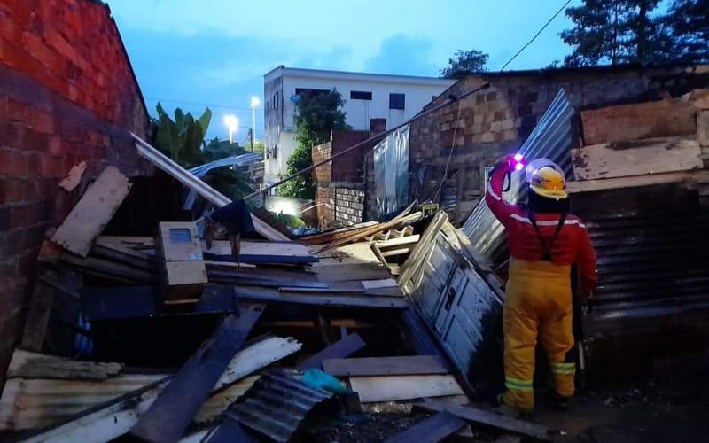 Casa se derrumbó en El Ramal por las lluvias