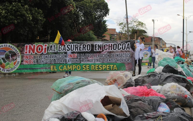 Vereda Chocoa protestó contra proyecto de relleno sanitario