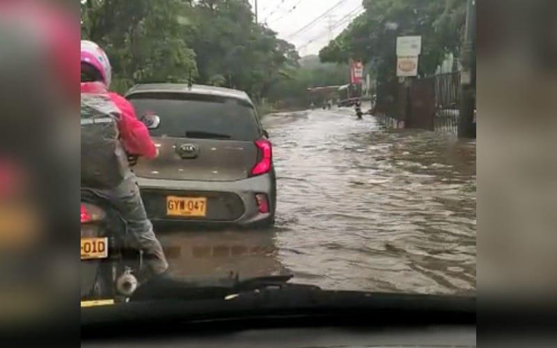 Girón amaneció 'empantanado' por las lluvias