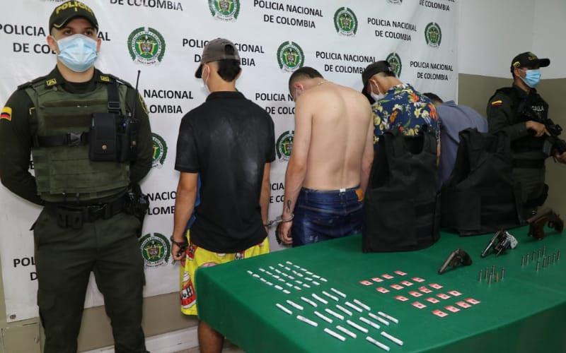 Capturados con armas, chalecos y droga en Villas de San Ignacio