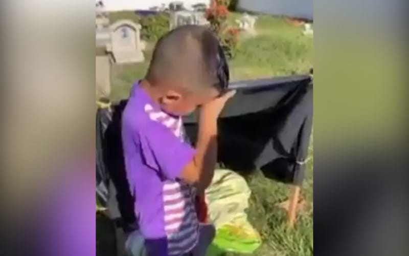 Es falso el video del niño que 'vive' en cementerio