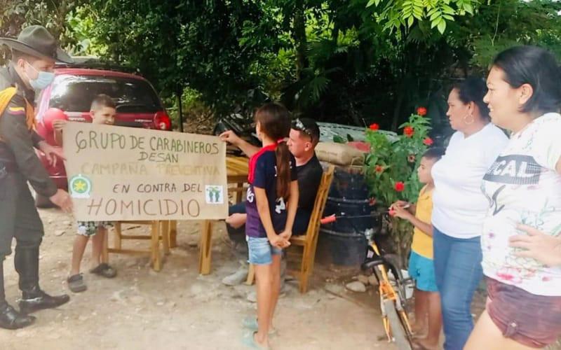 Campañas de prevención de homicidios en Santander