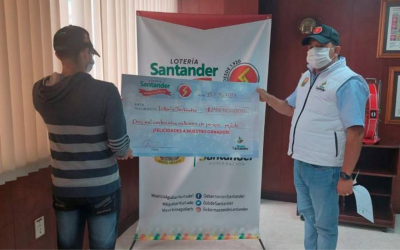 Se ganó $2.400 millones de la Lotería de Santander
