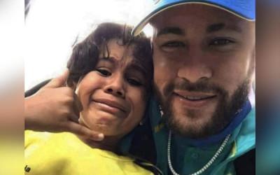 Lágrimas de alegría en hincha colombiano de Neymar