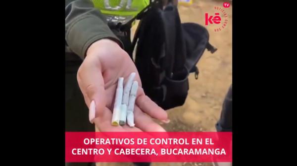 La Policía Metropolitana, el Ejército, Tránsito y la Administración Municipal de Bucaramanga efectuaron hoy operativos de control a la seguridad y la convivencia