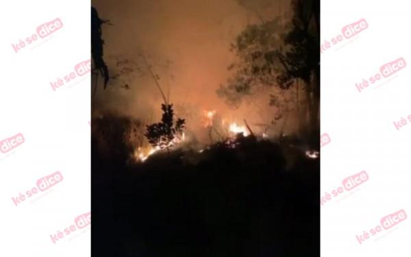 Intenso incendio en El Guamito de Los Santos