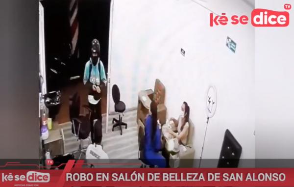 ROBO EN SALÓN DE BELLEZA DE SAN ALONSO