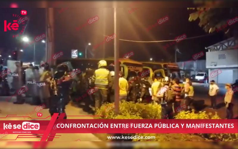 Confrontación entre manifestantes y fuerza pública en CAI La Virgen