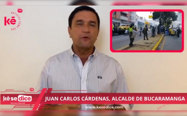 Alcalde de Bucaramanga habló de la intervención a protestas