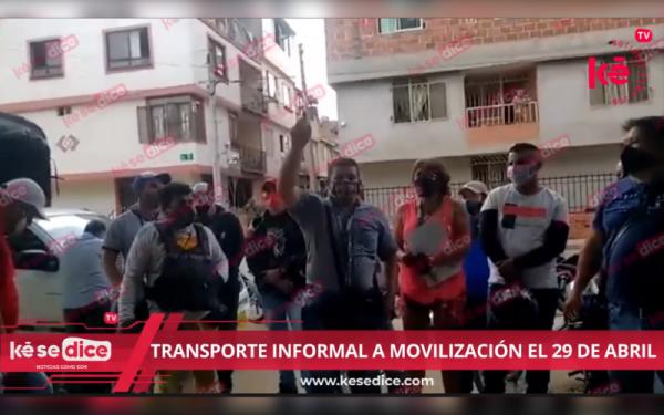 Transporte Informal del Área a movilización el 29 de abril