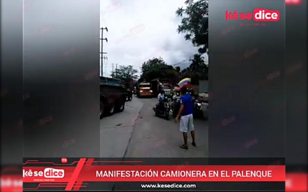 Manifestación bloquea el paso en El Palenque de Girón