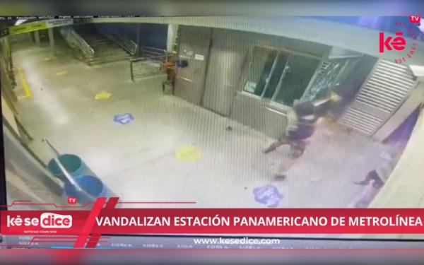 Vandalizaron la estación Panamericano de Metrolínea