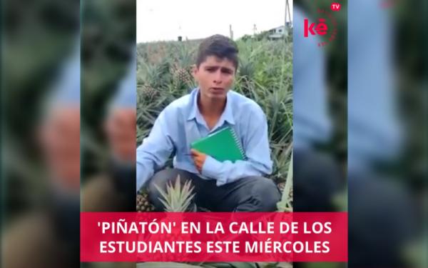 'Piñatón' en la Calle de los Estudiantes de Bucaramanga este miércoles