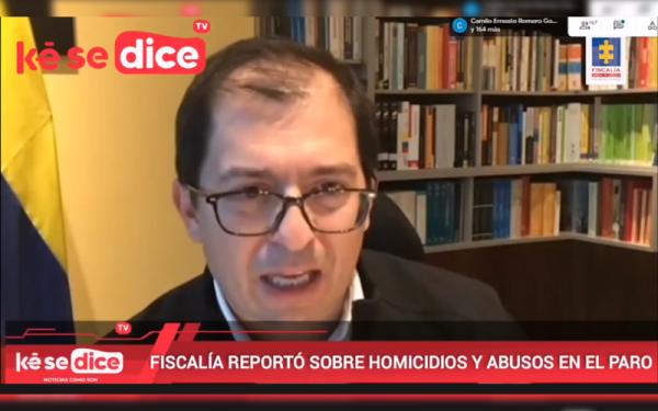 """""""14 homicidios relacionados con el Paro"""", Fiscalía"""