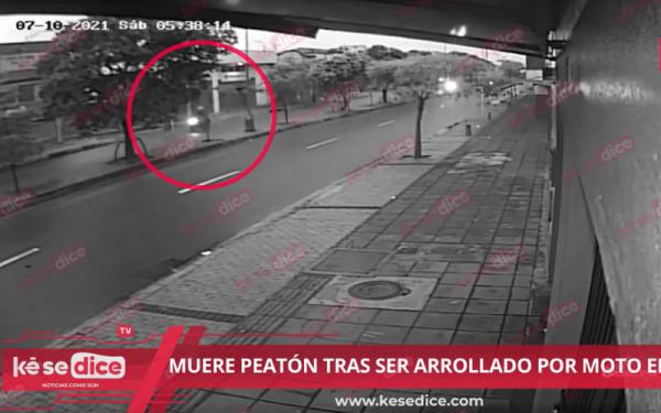 Peatón fallecido en accidente con moto en Bucaramanga