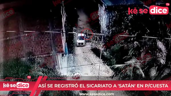 ASÍ SE REGISTRÓ EL SICARIATO A 'SATÁN' EN P/CUESTA