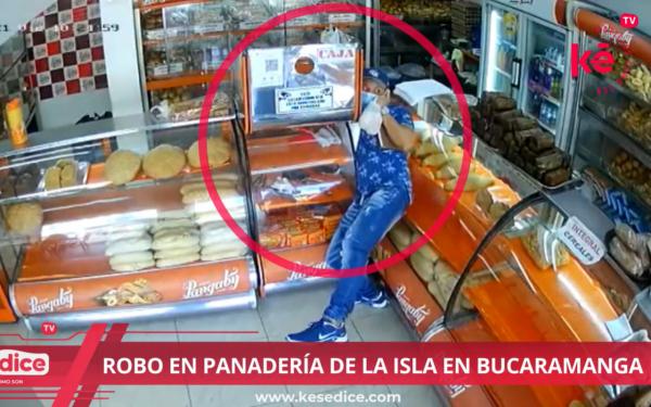 Captado en cámara hurto de celular en panadería de La Isla, Bucaramanga - Ke se dice